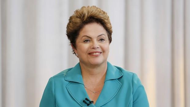 Presidenta Dilma durante entrevista ao Jornal da Record  (Foto:  Roberto Stuckert Filho/ PR)
