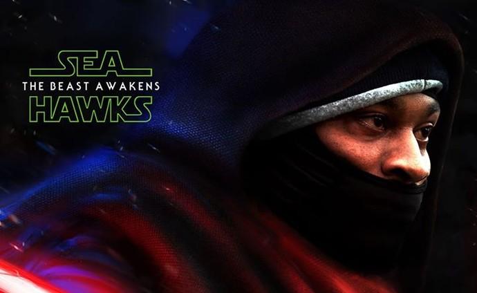 Marshawn Lynch montagem Star Wars NFL (Foto: Reprodução / Facebook)
