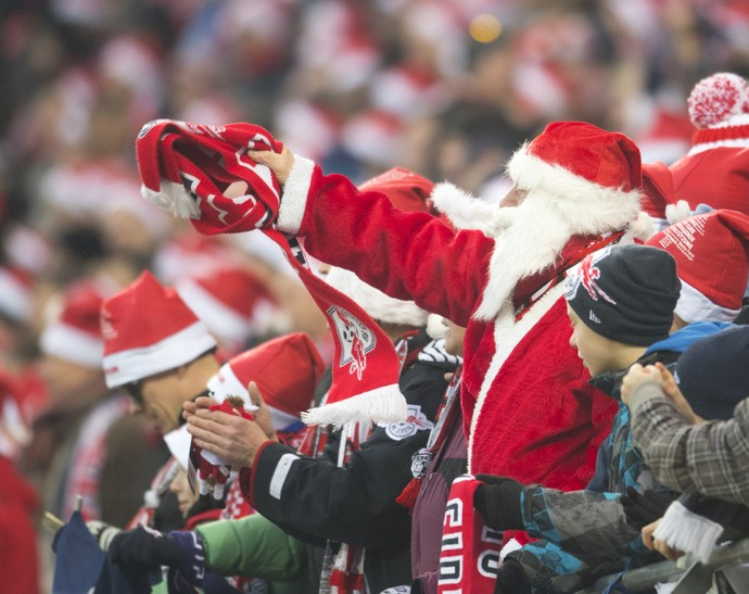Papai Noel RB Leizpig Hertha Berlim (Foto: AFP)