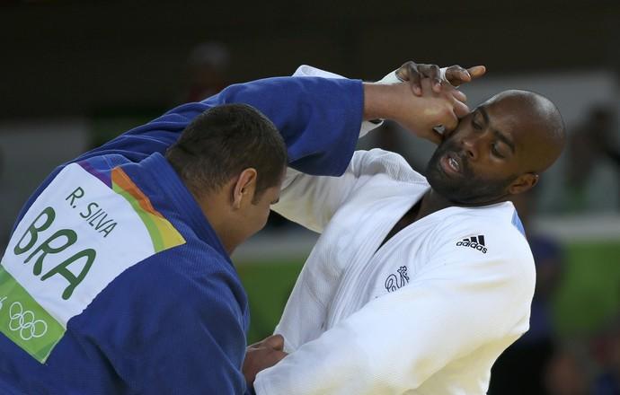 Teddy Riner vence brasileiro Rafael Baby (Foto: REUTERS/Toru Hanai )