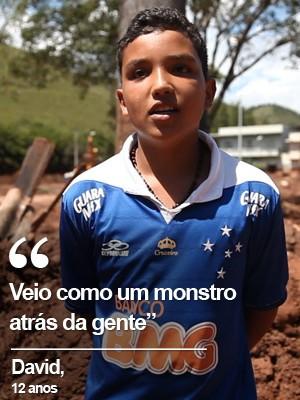 VÍDEO: crianças relatam a  invasão da lama em Barra Longa (Fábio Tito/G1)