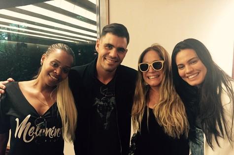 Roberta Rodrigues, Juliano Cazarré, Susana Vieira e Letícia Lima (Foto: Arquivo pessoal)