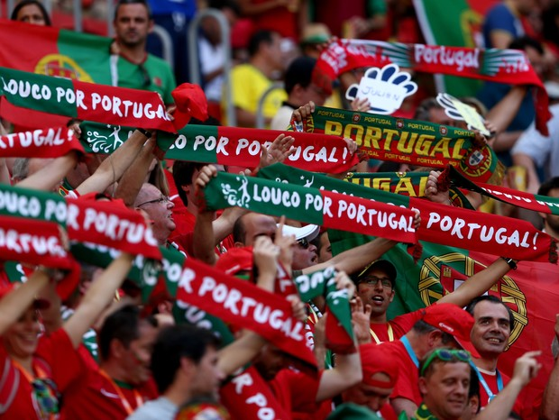 Torcida de Portugal na Copa do Mundo do Brasil (Foto: getty images)
