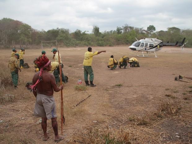 Índios tem ajudado a combater o roubo de madeira na reserva (Foto: Divulgação/ Inpe)
