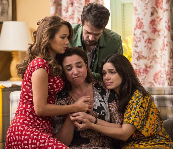 Tancinha, Giovanni e Shirlei apoiam Francesca (Foto: Inácio Moraes/Gshow)