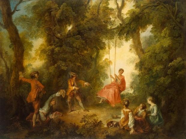 O Balanço, de Nicolas Lancret (Foto: pintura)