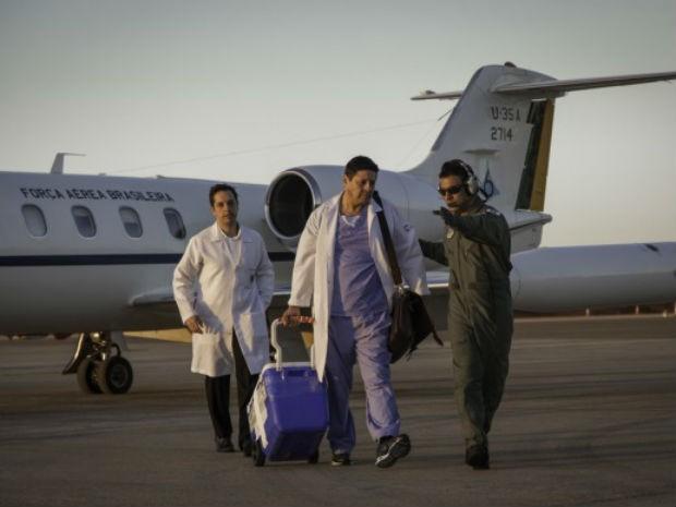 Jato da Força Aérea Brasileira (FAB) transplanta coração para transplante entre SC e DF (Foto: FAB/Divulgação)