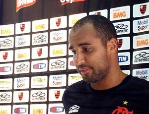 Deivid durante entrevista do Flamengo (Foto: Janir Junior / Globoesporte.com)