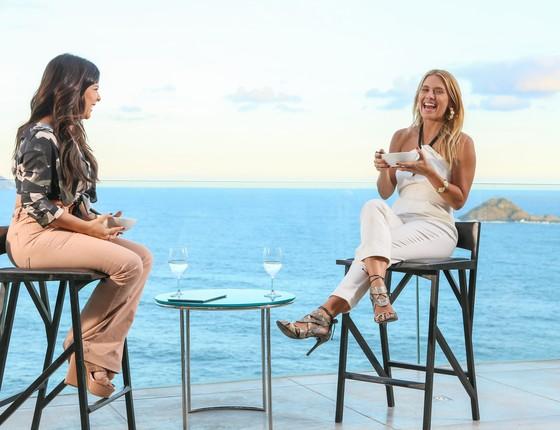 Fernanda e Carolina Dieckmann durante a gravação do Vai Fernandinha (Foto: Gianne Carvalho)