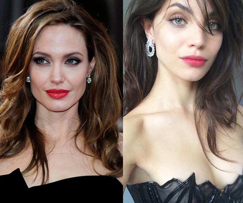 Angelina Jolie x Victoria Furnari (Foto: Getty Images e Instagram/Reprodução)
