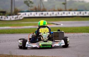 Para recuperar, Guilherme Figueiredo busca pódio na Copa SP Light de Kart