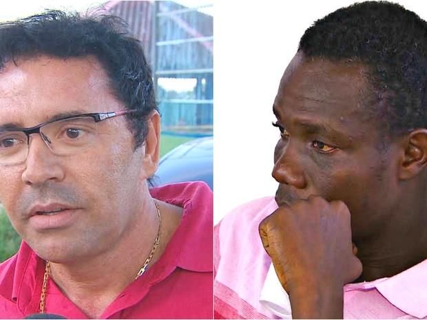 Sabino Castelo Branco e o tio haitiano disputam guarda de menina (Foto: Reprodução/Rede Amazônica)