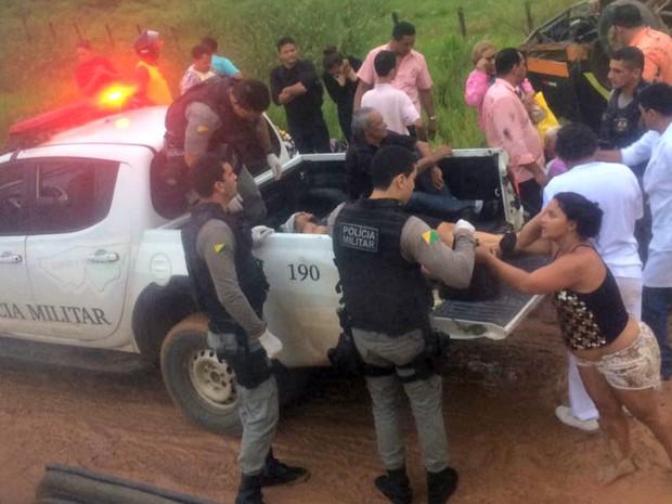 Em média, 20 pessoas foram encaminhadas para o hospital em Feijó, segundo a empresa  (Foto: Reprodução/WhatsApp)