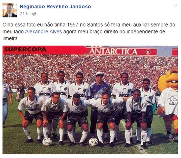 Piá e Alexandre comissão técnica Independente-SP Limeira (Foto: Reprodução)