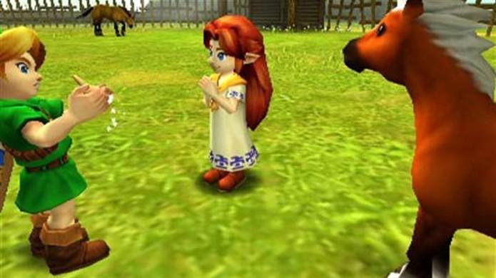 Aprender a canção de Epona na infância de Link é essencial para invocá-la no futuro (Foto: Divulgação)