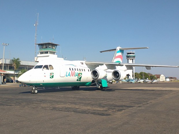Um das aeronaves da frota da Lamia. (Foto: Reprodução/Facebook Lamia)