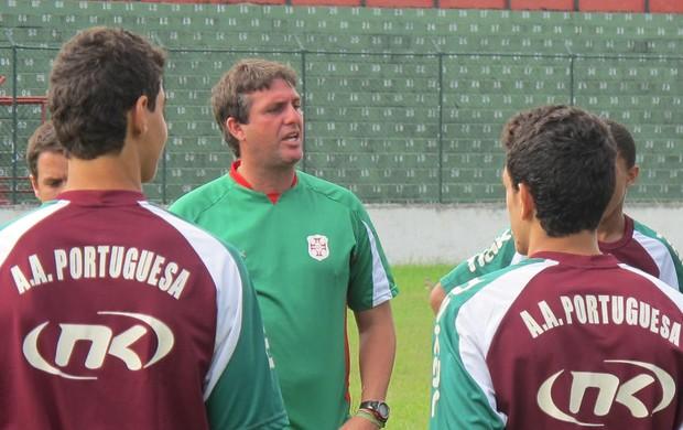 Cristiano Troisi Portuguesa Santista Briosa (Foto: Bruno Gutierrez / Globoesporte.com)