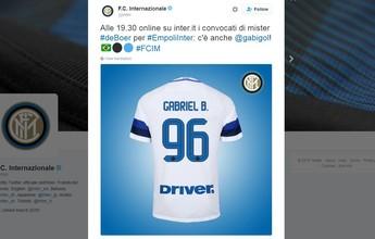 Pelo Twitter, Inter de Milão revela que Gabigol está relacionado por De Boer