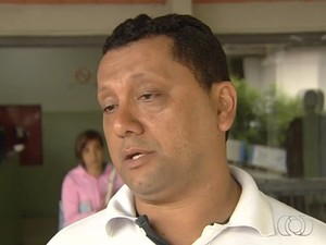 Marcos de Abadia está internado em estado grave, em Goiânia (Foto: Reprodução/TV Anhanguera)