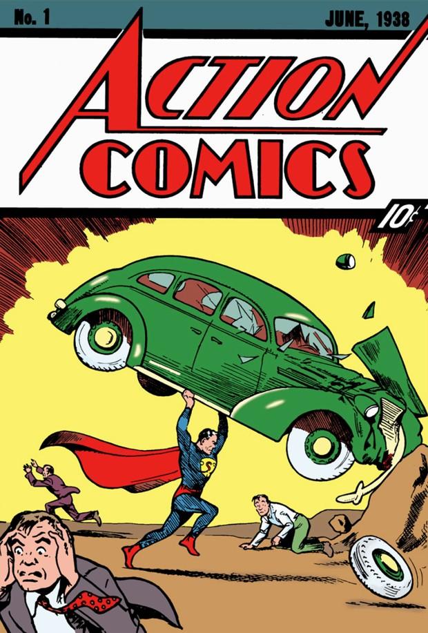Primeira edição da Action Comics (Foto: Divulgação)
