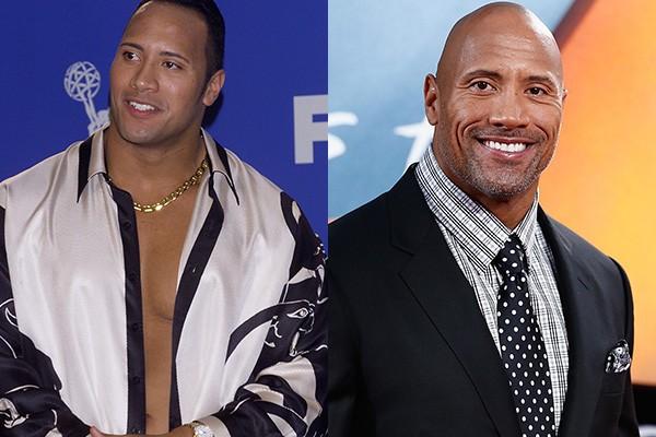"""Dwayne """"The Rock"""" Johnson é um daqueles lutadores que foi tentar fazer fama nos filmes de Hollywood...e acabou dando muito certo! De seus dias de lutador para cá, o astro amadureceu bastante e atualmente é um dos atores mais cotados para grandes blockbusters. (Foto: Getty Images)"""