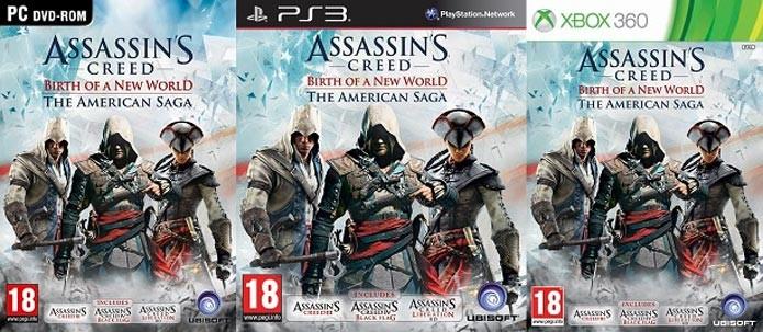 Pacote reúne três Assassins Creed em um (Foto: Divulgação)