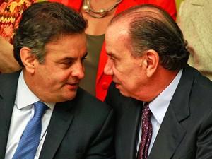 Aécio Neves, Aloysio Nunes, PSDB, convenção (Foto: Beto Nociti/Futura Press/Estadão Conteúdo)