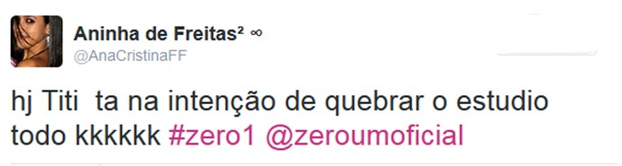 Internautas comentam o 'Zero1' nas redes (Foto: Reprodução da internet)