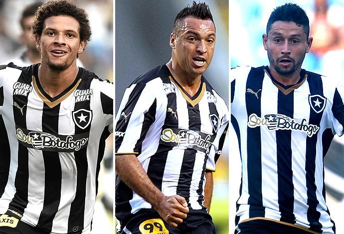Montagem Botafogo, WIllian Arão, Daniel Carvalho e Elvis (Foto: Globoesporte.com)