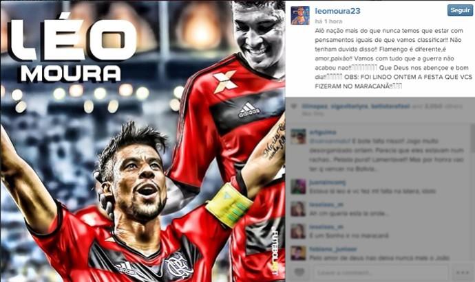 Reprodução INstagram Léo Moura Flamengo (Foto: Reprodução / Instagram)