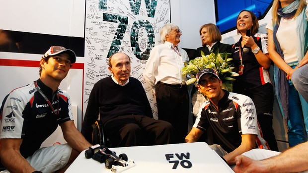 frank williams bruno senna pastor maldonado festa FW70 (Foto: Agência Getty Images)