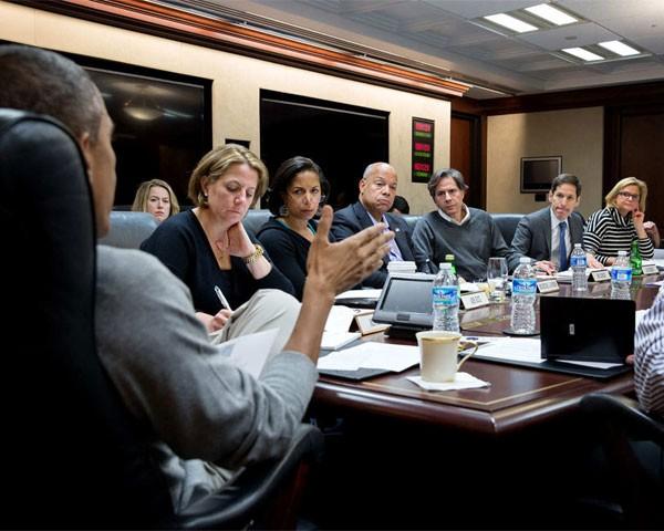 Obama em reunião na Casa Branca (Foto: Divulgação Casa Branca)