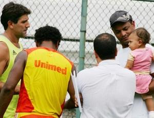 Tuta, em foto de 2008 no Fluminense, sob o comando de Renato Gaúcho (Foto: Ricardo Ayres / Photocamera)