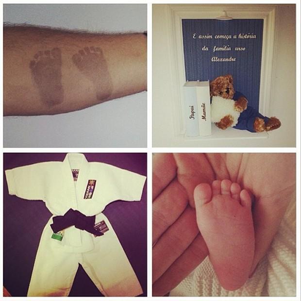 Ana Hickmann mostra detalhes do nascimento do filho Alexandre (Foto: Reprodução / Instagram)
