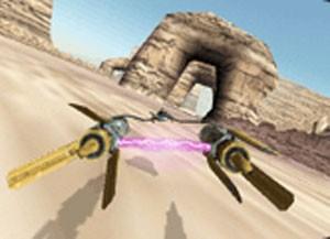 CEna de 'Star Wars Episode I Racer' (Foto: Divulgação/LucasArts)