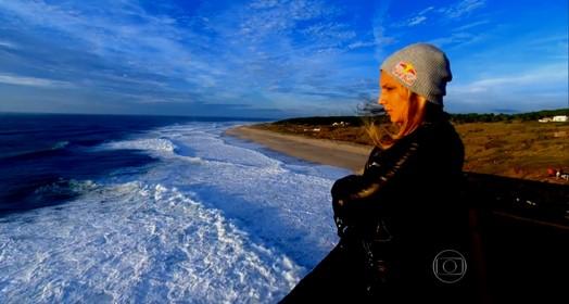 surfista supera susto (Reprodução TV Globo)