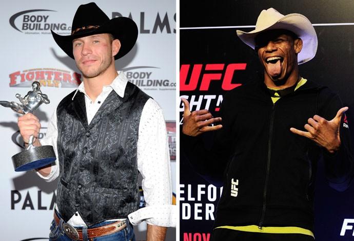 MONTAGEM - Donald Cerrone e Alex Cowboy UFC (Foto: Editoria de Arte)