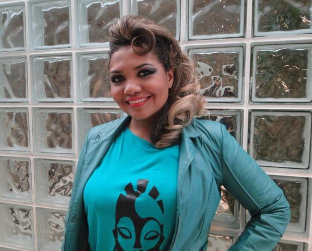 Gaby Amarantos diz que nunca precisou coar café na calcinha (Foto: Encontro com Fátima Bernardes/TV Globo)