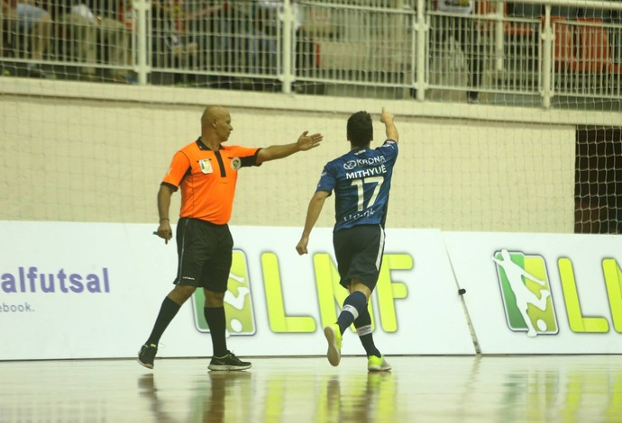 Mithyuê Joinville Guarapuava Liga Nacional de Futsal (Foto: Fabrizio Motta/Divulgação)