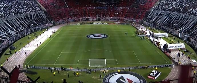 Torcida River Plate Boca Juniors Libertadores (Foto: Reprodução SporTV)