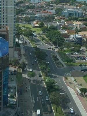 Avenida Nossa Senhora dos Navegantes é interditada para evento religioso, no espírito santo. (Foto: Carlos Antolini/ Prefeitura de Vitória)