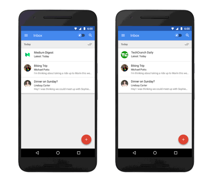 Agora você pode ver as newsletters em destaque no Inbox do Google (Foto: Divulgação/Google)