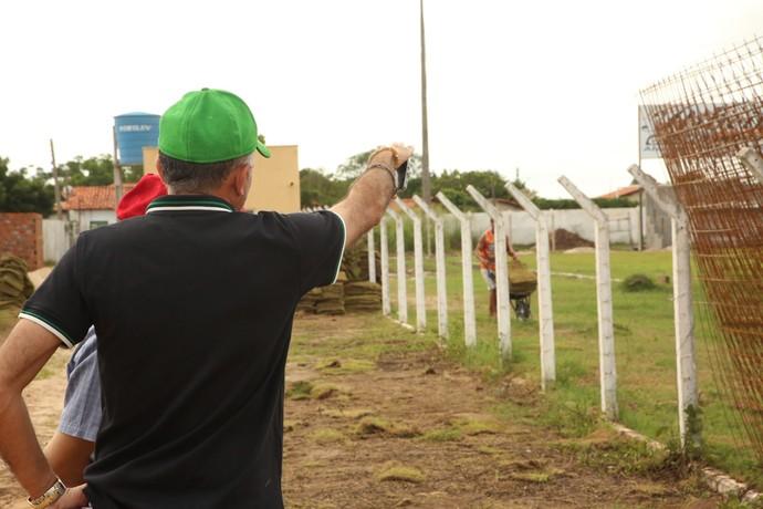 Obras estádio Felipão (Foto: Luis Júnior/Altos)