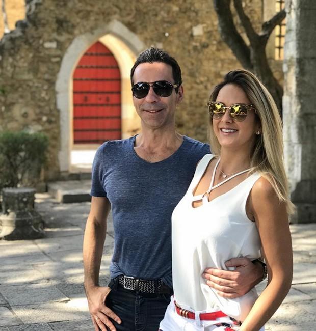 Tralli e Ticiane no Castelo de São Jorge (Foto: Reprodução/Instagram)