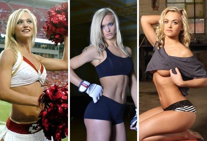 Montagem gatas UFC Rachel Wray (Foto: Editoria de arte)