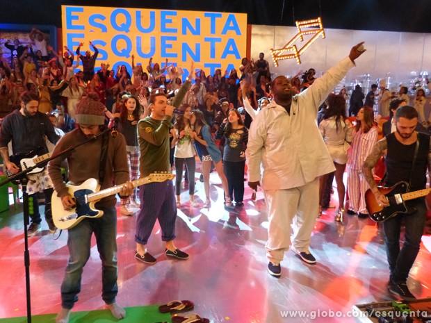 NX Zero no Esquenta! (Foto: TV Globo / Esquenta!)