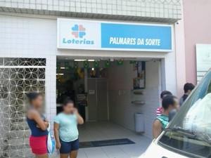 Lotérica Palmares da Sorte (Foto: Betania Pereira/ Arquivo Pessoal)