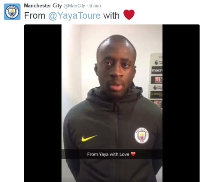 BLOG: Após volta triunfal, Yaya Touré agradece o carinho dos fãs do Manchester City