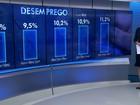 Brasil tem 11,4 milhões de desempregados, segundo IBGE