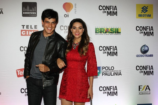 Mateus Solano e Fernanda Machado em pré-estreia de filme em São Paulo (Foto: Claudio Augusto / Foto Rio News)
